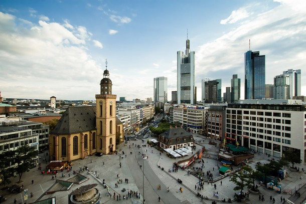 Skyline downtown of Frankfurt city